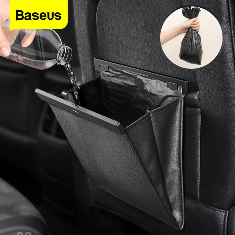 Baseus Car Organzier bolsa de almacenamiento del asiento trasero soporte de bolsillo magnético para el coche accesorios para el coche cubo de basura para el coche bolsa de basura para el coche