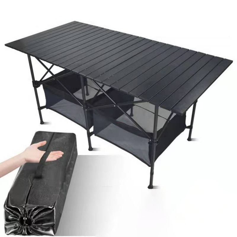 New Outdoor Folding Table Chair Camping Aluminium Alloy BBQ Picnic Table Waterproof Durable Folding