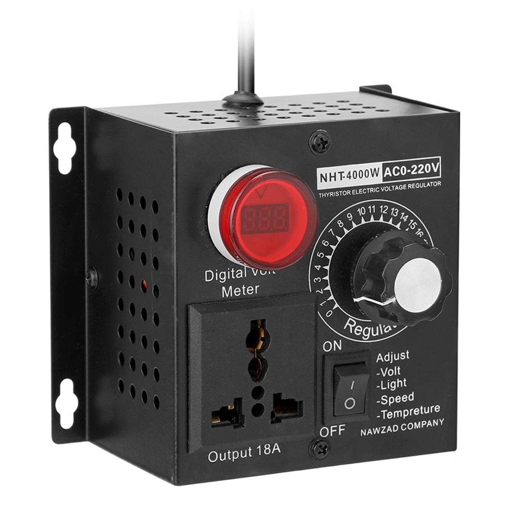 SCR الإلكترونية الجهد المنظم يعتم المخفتات موتور سرعة المراقب المالي 4000 واط 220 فولت كلمة واحدة موتور جهاز تحكم في سرعة المروحة