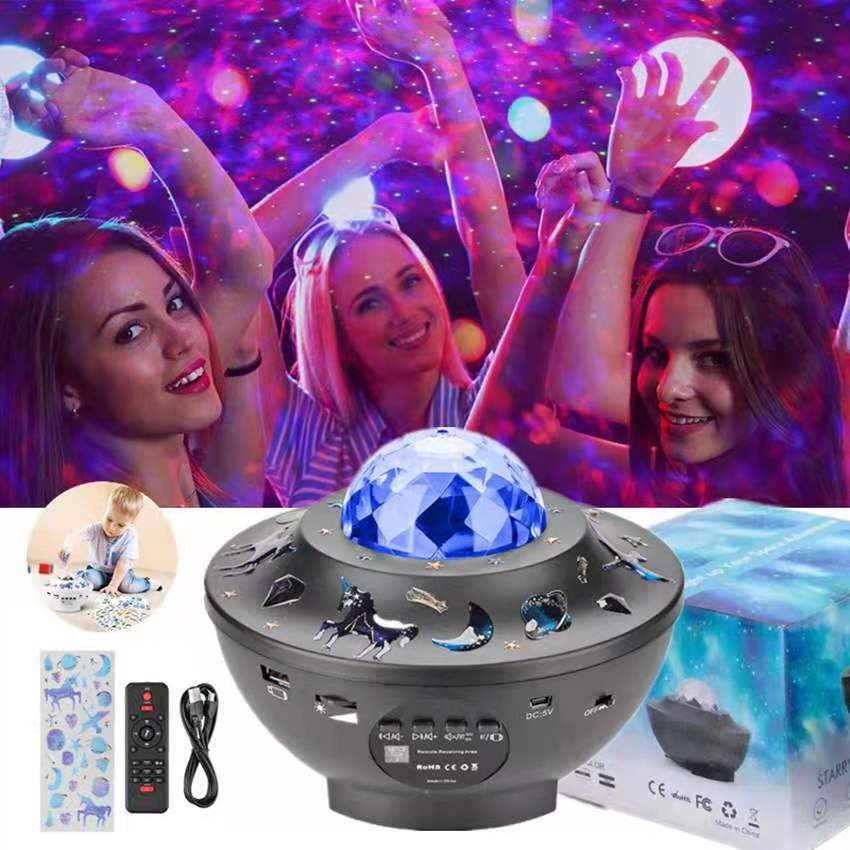 Colorful Starrylamp Galaxy Projector Nightlight Child Blueteeth USB Music Player Star Night Light Romantic Projection Lamp Gifts