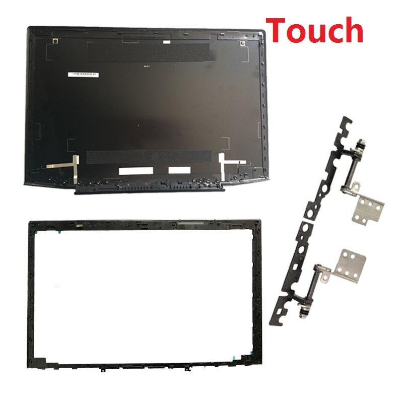 Nuovo per Lenovo Y50 Y50-70 Y50-70A Y50-70AS-IS Y50-80 15.6 Lcd Del Computer Portatile Top Caso Della Copertura/Lcd Bezel Copertura/Lcd cerniere L & R Touch