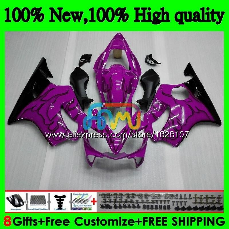 Cuerpo para HONDA CBR600 F 4 CBR 600 FS CBR600 F4 99 00 140BS.71 CBR 600F4 600CC CBR púrpura negro 600 F4 CBR600F4 1999 2000 carenado