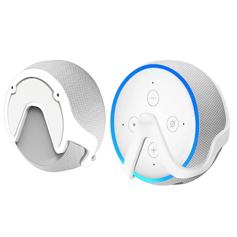 Ahorro de espacio práctico compacto dormitorio salida montaje en pared soporte altavoz accesorios soporte Cocina Para Echo Dot 3
