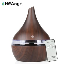 Humidificador de aire USB de 300ml, difusor de aire de Aroma remoto, vaporizador de aromaterapia de aceites esenciales ultrasónico de madera para el hogar