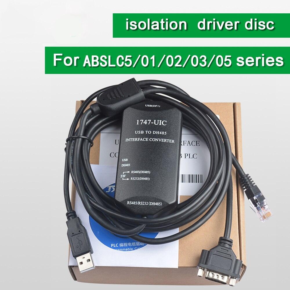 Câble de programmation USB 1747-UIC 1747 UIC pour Allen Bradley USB à DH485-USB pour câble de programmation PLC série SLC5/01/02/03/05