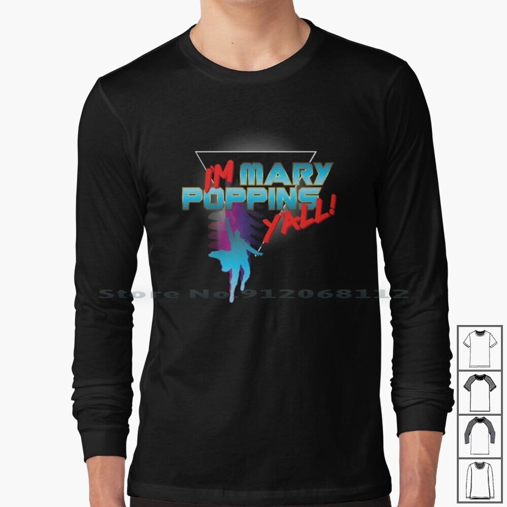 I'm Y'all! Long Sleeve T Shirt Guardians Galaxy Yondu Poppins 80s Retro Parody Quote Awesome Mix