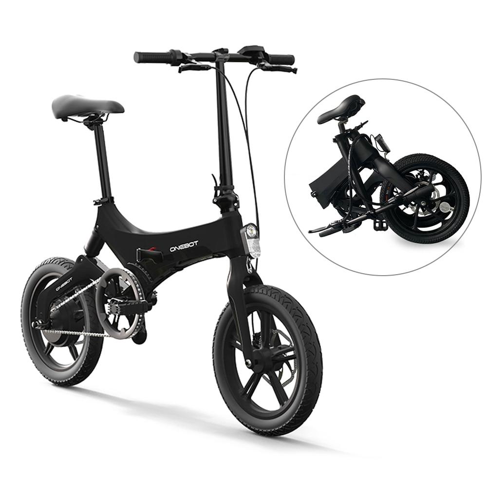 Bicicleta eléctrica plegable de 16 pulgadas, 250W, 36V, con Motor de bicicleta de montaña y frenos duales de disco, e-bike IPX4 impermeable