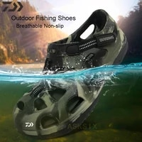 new daiwa fishing shoes for men non slip anti sweat fishing sandals breathable quick dry wading shoes casul outdoor porous shoes