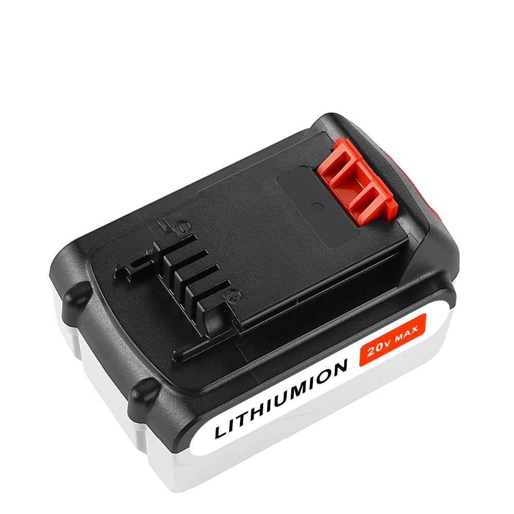 Reemplazo de alta calidad 6000mAh 20V batería máxima recargable inalámbrico para Black & Decker LB20 LBXR20 LB2X4020 LGC120