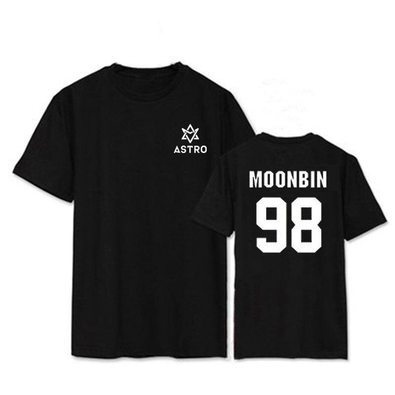 Kpop ASTRO MJ ROCKY JINJIN álbum camisas K-POP Casual algodón camiseta manga corta Camiseta Tops camiseta DX398