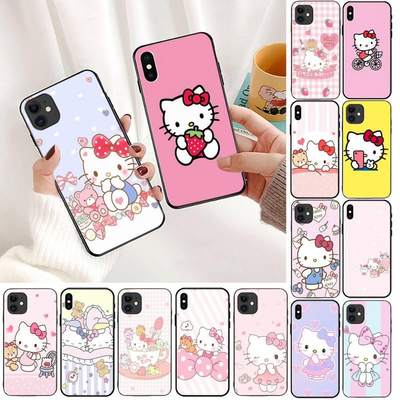 YNDFCNB Hello Kitty чехол для телефона iPhone 11 8 7 6 6S Plus X XS MAX 5 5S SE 2020 XR 11 pro