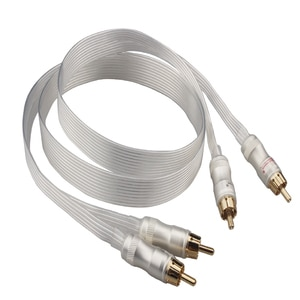 Hifi silver plated cable Blue white Heven king snake Gold Plated RCA interconnect cable