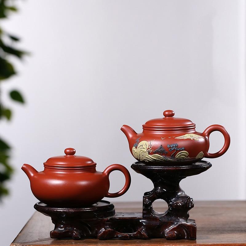 Yixing الشهيرة اليدوية الأرجواني الطين براد شاي صنع إبريق الشاي الكونغ فو ملعقة صغيرة سهلة نقع وسهلة لرفع Dahongpao الأواني العتيقة