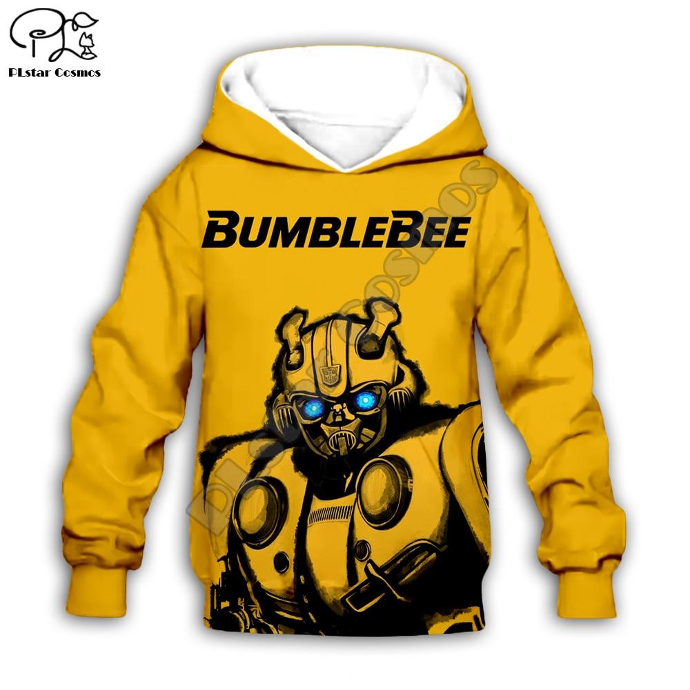 Family matching Outfits Bumblebee Kids Set clothing 3D Print Hoodies daughter chidren boy Girl Sweatshirts/jacket tracksuit Pant