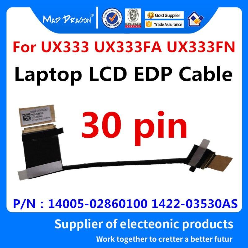 شاشة كمبيوتر محمول LCD LVDS ، 14005-02860100 ، لـ ASUS UX333 ، UX333FA ، UX333FN ، شريط فيديو بدون شاشة تعمل باللمس ، مرن