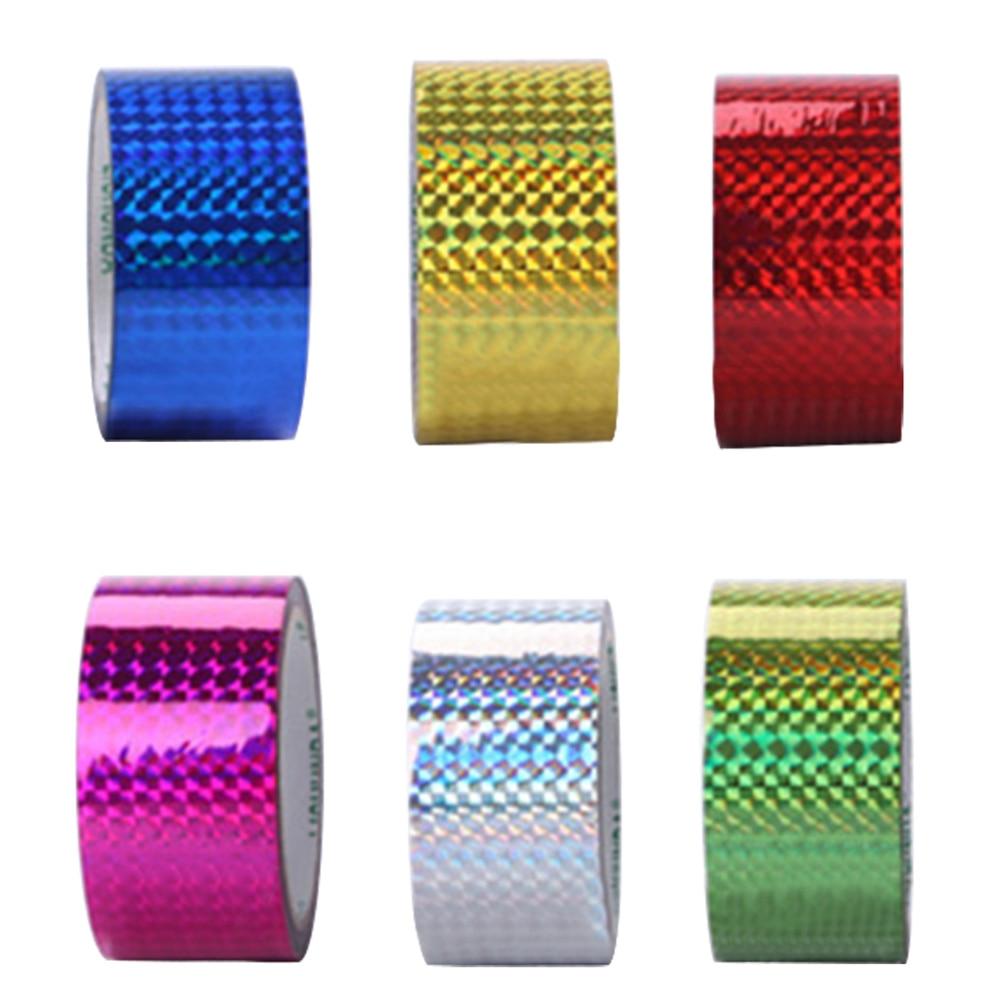 1 rollo conjunto de cintas de Color puro Etiqueta de embalaje cinta adhesiva láser luminosa cinta selladora para cajas de decoración de bloc de notas de la cinta