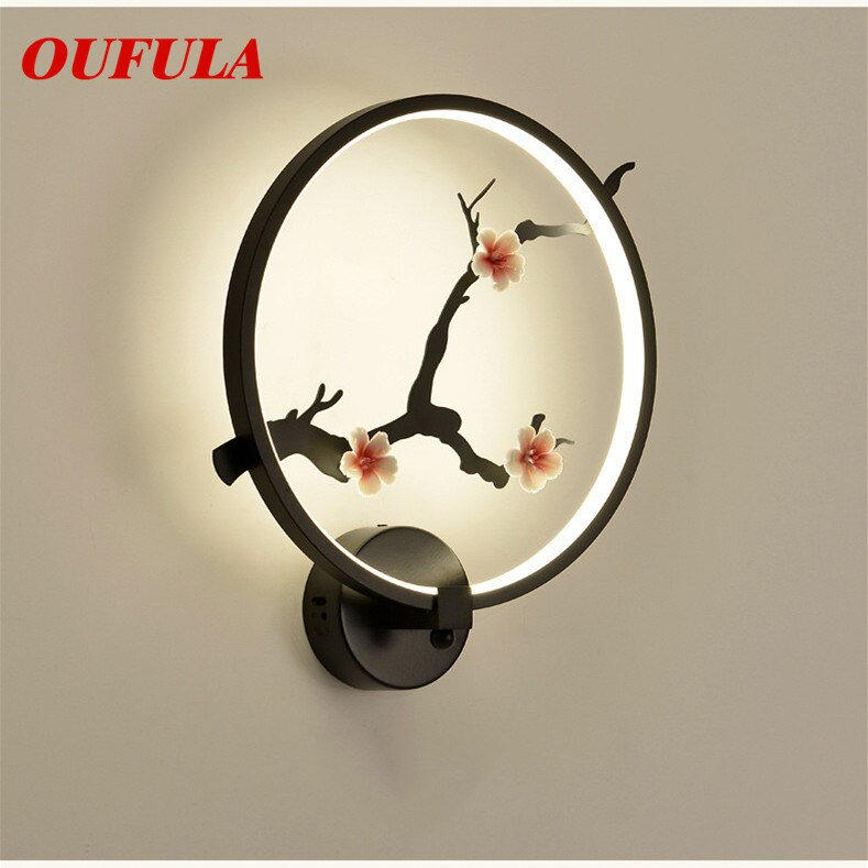 Hongcui Indoor Wall Lamps Fixture Modern LED Sconce Contemporary Creative Decorative For Home Foyer Corridor Bedroom