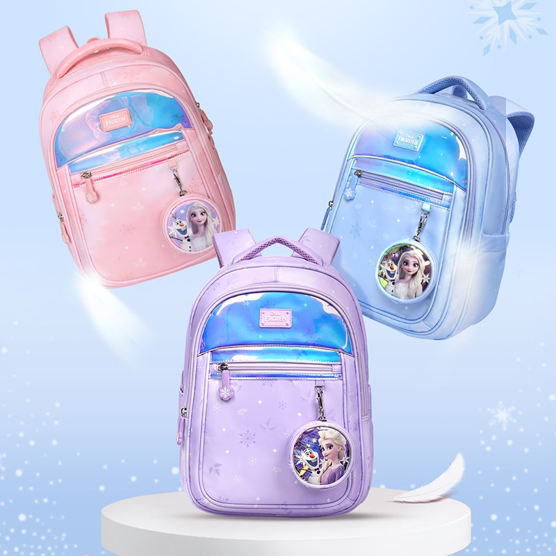Disney Frozen School Bags For Girls Primary Student Shoulder Orthopedic Leisure Backpack Grade 1-6 Elsa Anna Kids Gifts Mochilas