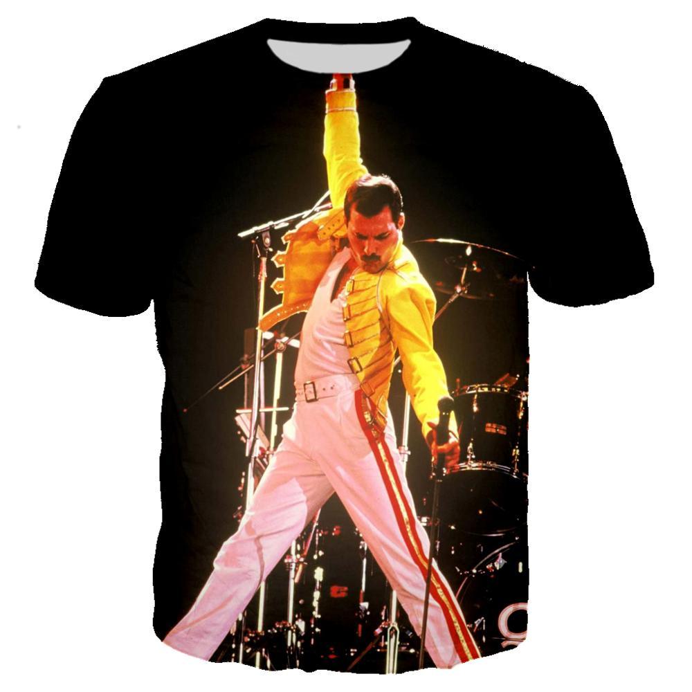3d принт queen Band Фредди Меркурий рок Мужская футболка классная футболка/уличная мужская одежда 2019 большой размер 5XL топ