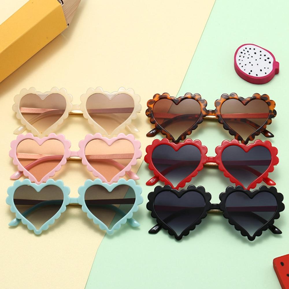 2020 NEW Baby Heart Kids Sunglasses Fashion New Love Plastic Pink Sun Glasses Girls Boys UV400 Sungl
