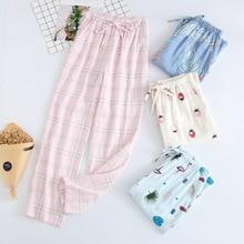 Daeyard Sleep Bottoms 100% Cotton Pajama Pants Women Piyamas Trousers Woven Lounge Pants Comfortable Pantalon Breathable Pyjama