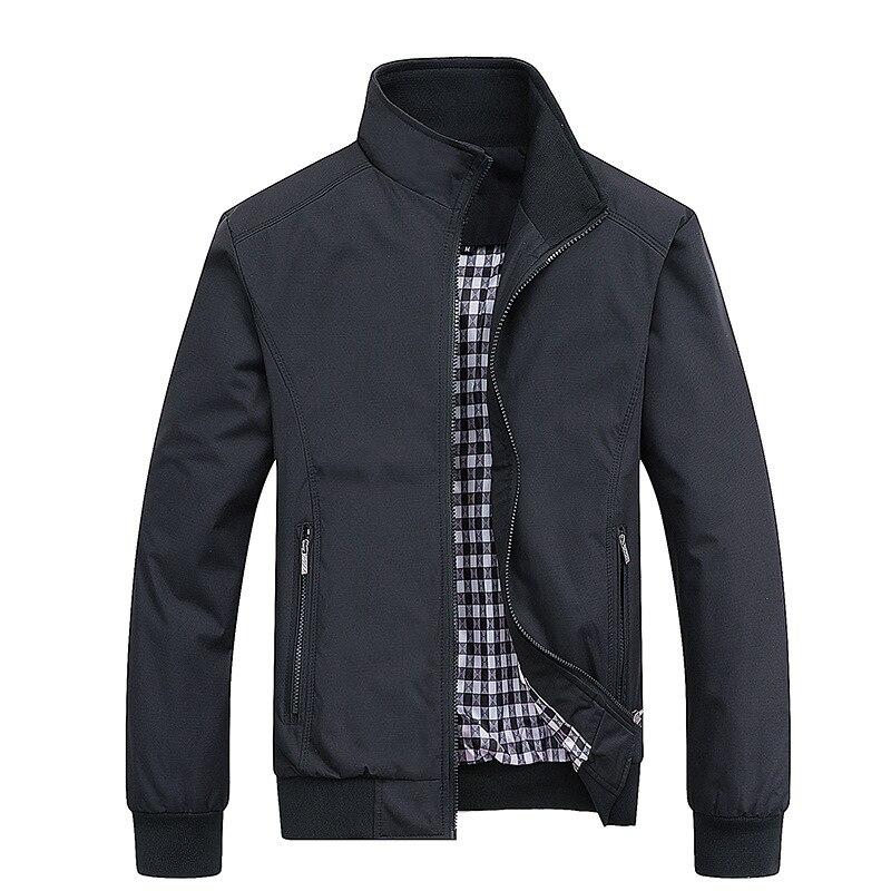 Chaqueta militar impermeable para hombre de chaqueta informal abrigo fino con cremallera...