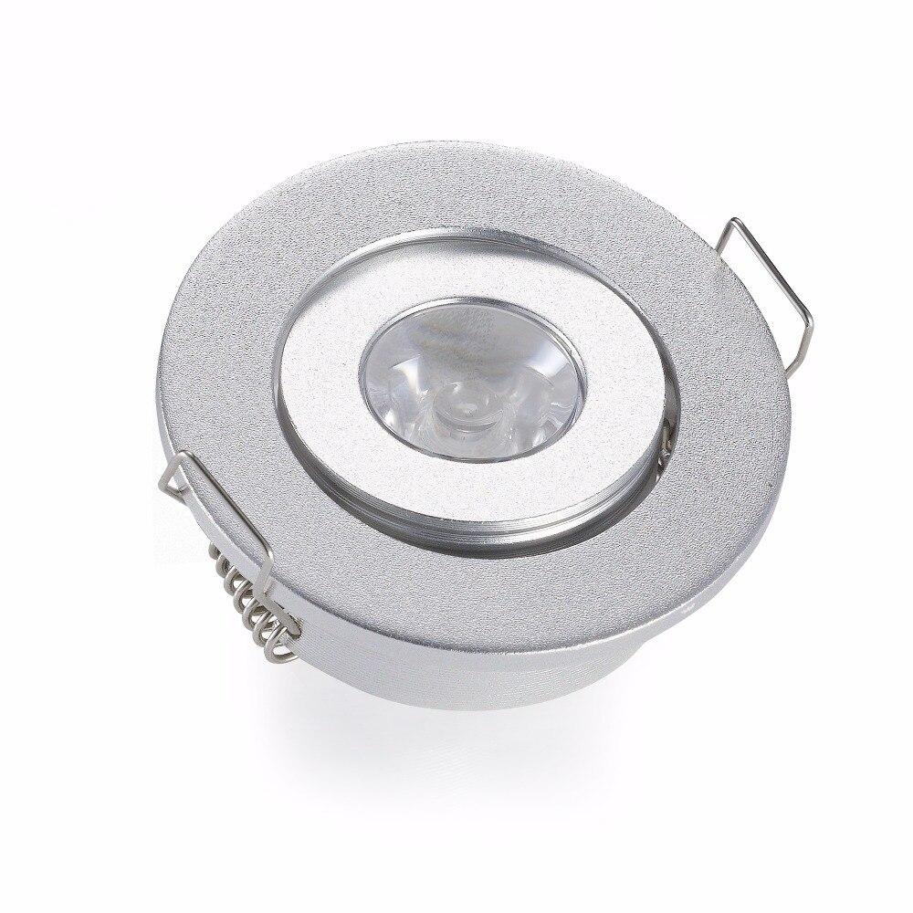 Las luces empotradas incluyen el tamaño del orificio del conductor Led 40-45mm DC12-24V 1W 3W Mini luces Led para el techo del gabinete