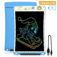 drawing board 10 inch rechargeable lcd writing tablet electronic kids learning educational montessori toys robot perfect gift