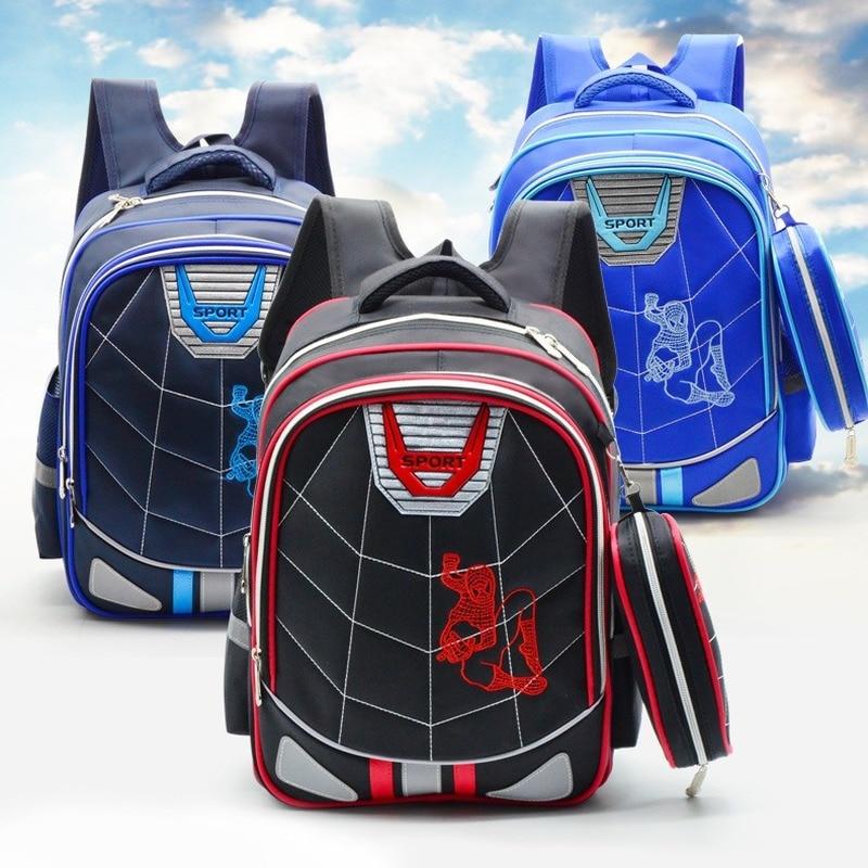 Школьный рюкзак Disney для начальной школы «Человек-паук» для мальчиков 1-3-6, Детский рюкзак для начальной школы