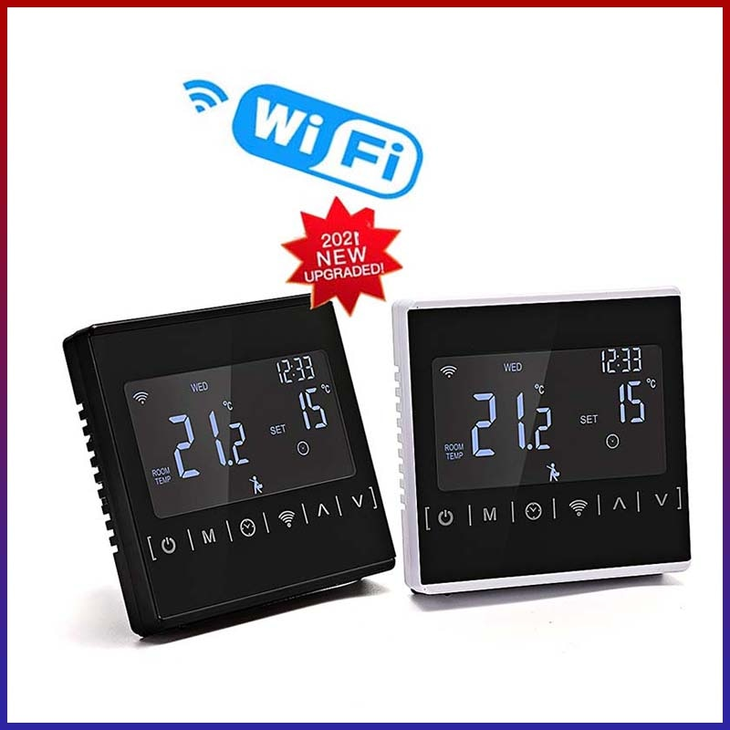 Фото - NEW110V 120V 230V All Touch Screen Temperature Controller Thermoregulator Black Back Light Electric Heating Room Thermostat WiFi 17cm 230v 45w for ebmpapst w2s130 ab03 24 all metal high temperature resistance fan