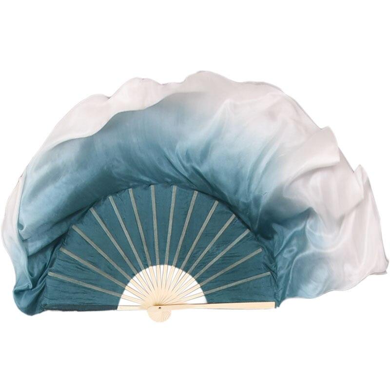 Abanico chino clásico de seda Para danza, Abanico con degradado de mano,...