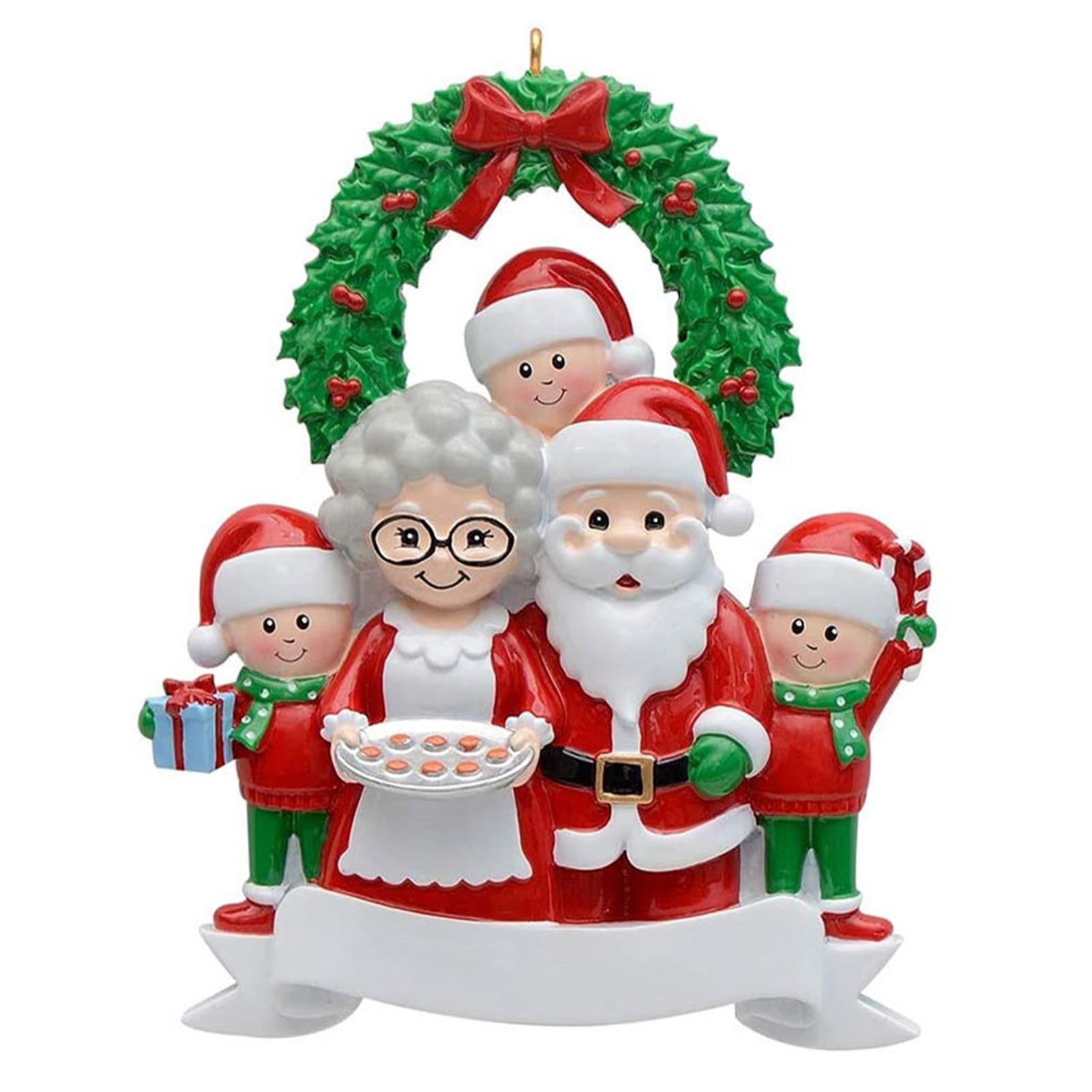Рождественское украшение 2021, украшение для рождественской елки, подвеска из смолы для семьи, подвесные Подвески для домашней елки, детские ...
