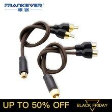 Câble Audio Frankever 2 RCA mâle à 1 RCA femelle câble séparateur Y pour amplificateur de voiture haut-parleur TV