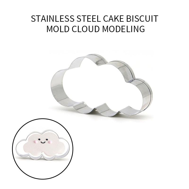 Cortador de galletas en forma de nube de acero inoxidable, molde de tarta, cortador de Fondant, utensilios de cocina para horno DIY, utensilios de cocina para decoración de tartas