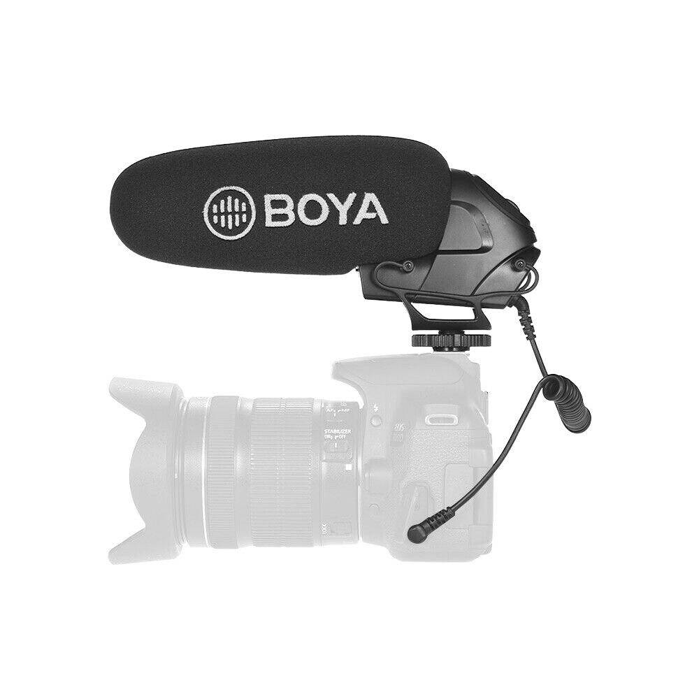 BOYA BY-BM3030 BM3031 BM3032 BM2021BM3011 micrófono en cámara escopeta condensador supercardioide para cámaras DSLR grabadoras de Audio