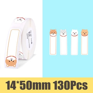 【Buy 5 get 32% off 】Niimbot D11 printer paper Supermarket Price Label sticker Waterproof Anti-Oil Tear-Resistant Pure Color