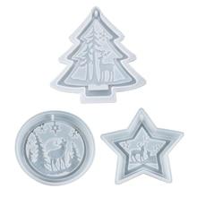 Molde de silicona para manualidades DIY con diseño navideño, molde decorativo para joyería, molde de resina Epoxy