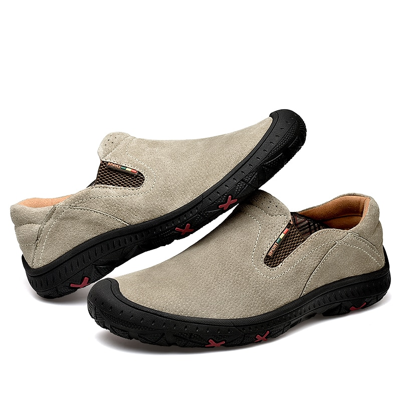Designer Leather Shoes Men Brand Footwear Non-slip Thick Sole Fashion Men's Casual Shoes Male High Quality Cowhide Loafers недорого