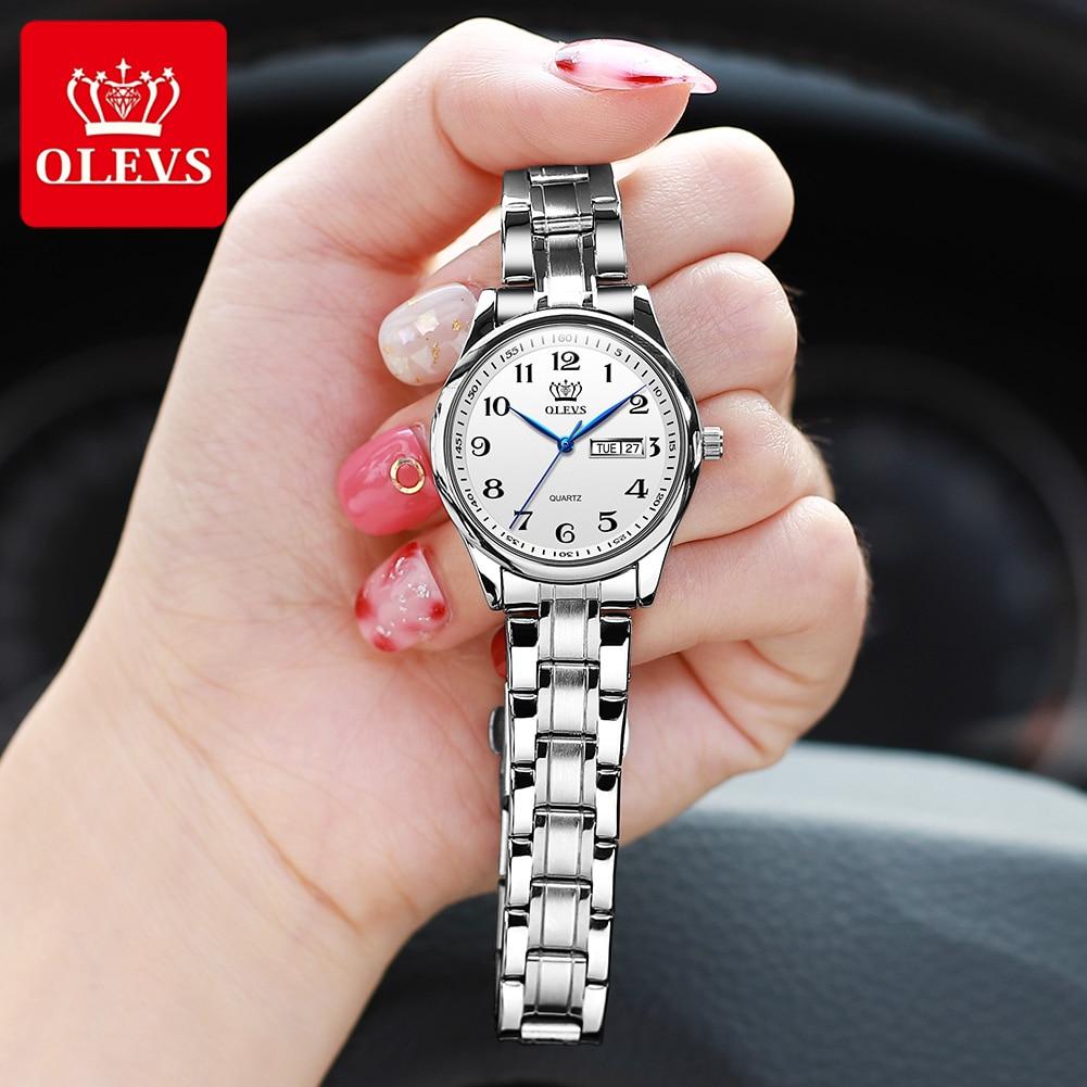 AliExpress - OLEVS Quartz Watch Women Fashion Ladies Watches Wrist Waterproof Stainless Steel Women Watches Luxury Montre Femme 5567