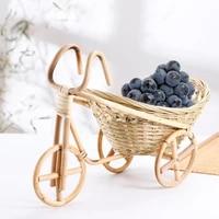 50hotbike shape wicker bread basket handmade bamboo art crafts food serving basket for home