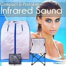 Portable Far Infrared Sauna Spa Slimming  Negative Ion Detox Therapy Personal Fir Sauna Folding Chair Cabin Room Sauna Heater