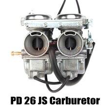 Double Twin Cilinder Carburateur voor Keihin PD26JS 26mm CBT125 CBT250 CA250 CB250 Cl125-3 Motor Motorfiets Atv Quad Go Kart