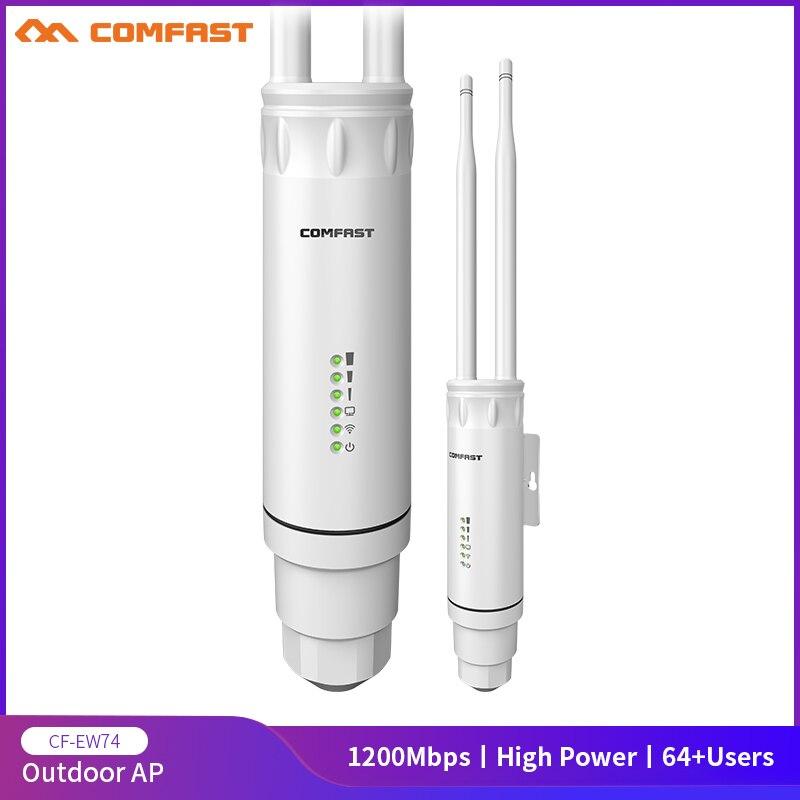 Comfast-repetidor wifi inalámbrico para exteriores, enrutador AP/WIFI de alta potencia AC1200, 1200Mbps,...