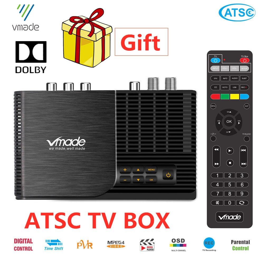 Горячая продажа ATSC T наземный цифровой Dolby AC3 HD ТВ приемник работает в США Канада Мексика Корея тюнер ATSC-T atsc t стандарт