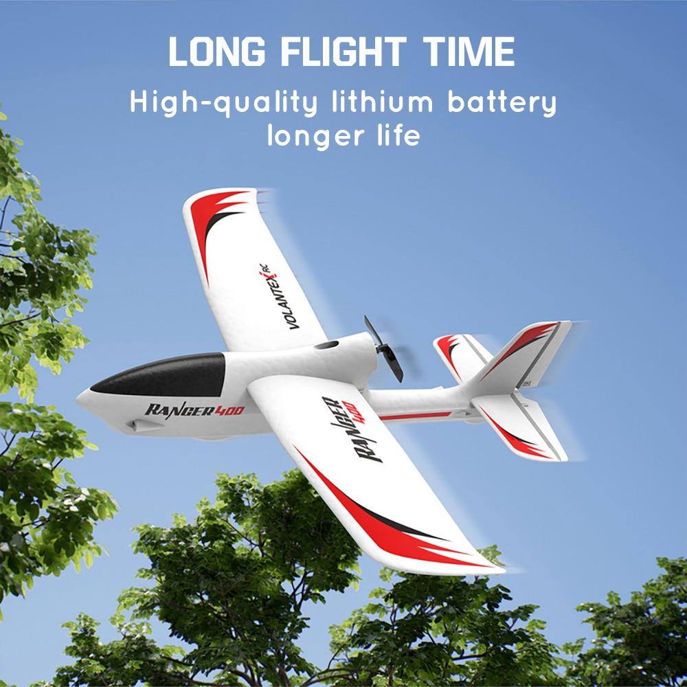 Volantex 761-6 RC Airplane 2.4GHz 3 Channel Gyro Ranger 400 RC Plane Glider EPP Trainer Warbird Fixed Wing RTF One-Key U Turn enlarge