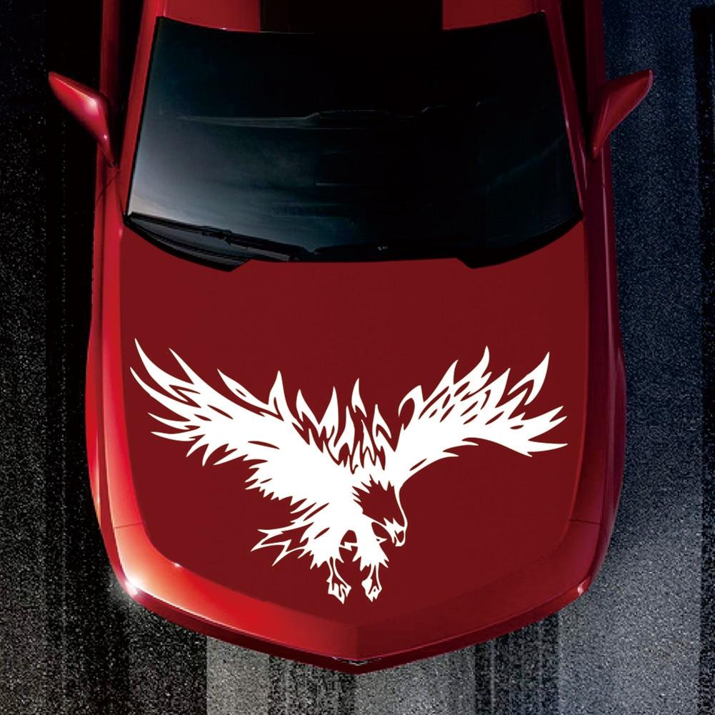 Universal Tribal águila patrón adhesivos reflectantes de coche camión Suv Hood calcomanías diseño accesorios de coche