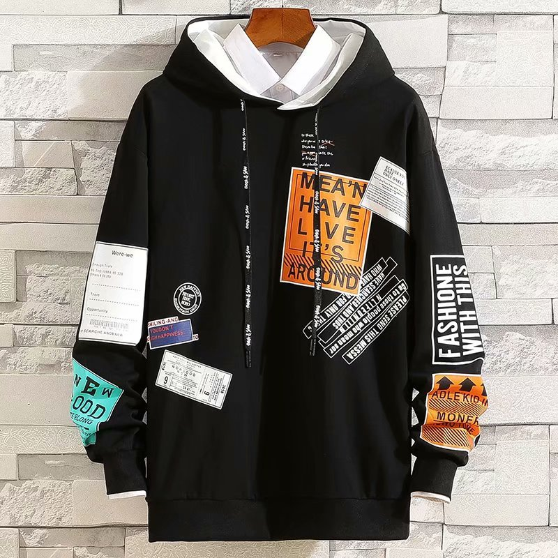 2020 frühling Herbst männer Hoodie Japan Stil Streetwear Trend Druck Pullover Sweatshirt Männer Casual Männer Kleidung Lose Hoodies Männer
