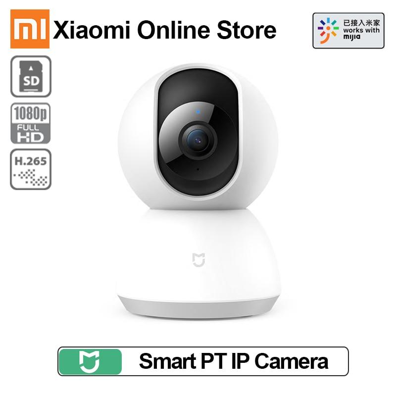 Xiaomi Mijia Wifi PT Monitor de bebé con cabeza de cuna 1080 cámara IP panorámica 2MP Wifi audio de dos vías 360 ángulo IR cámara Web