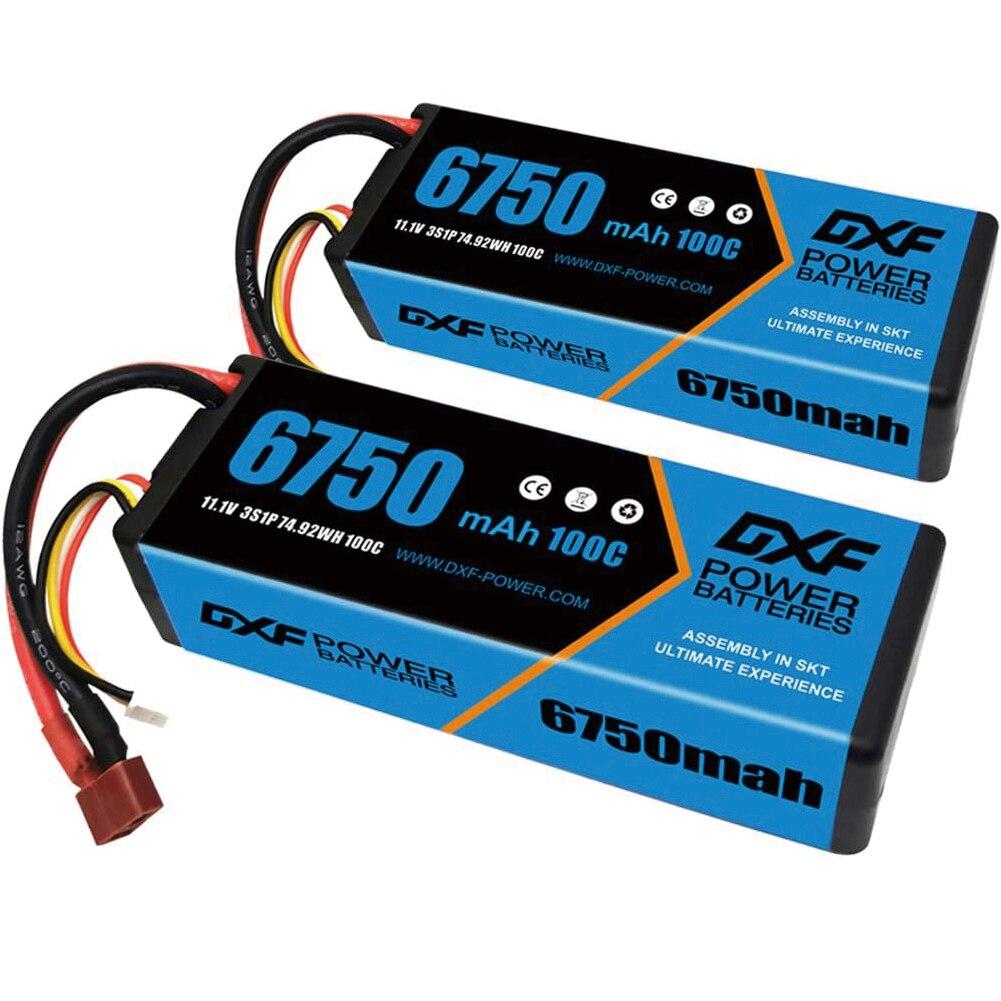 DXF RC Lipo Battery 2S 7.4V 3S 11.1V 4S 14.8V 5200mah 6750mah 6500mah 8000mah 8400mah100C 110C 120C for RC Car Boat Buggy Truck enlarge