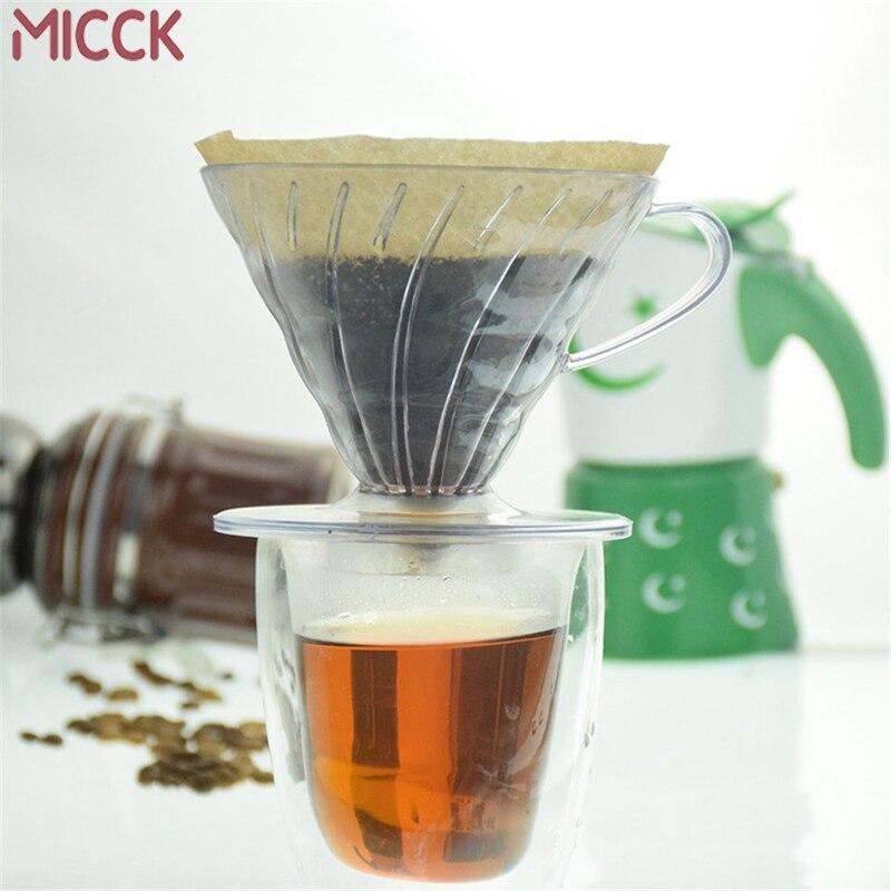 MICCK 2/4 чашки кофе капельница V60 термостойкая Смола бариста инструменты кофе пивоварения фильтр чашка ручная промывка стекло капельного фильтра горшок